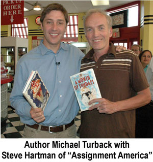 Author Michael Turback with Steve Hartman of